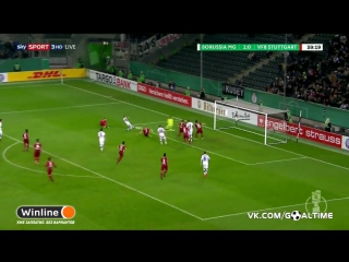 Боруссия М - Штутгарт 2:0.  Обзор матча. Кубок Германии - 1/16 финала