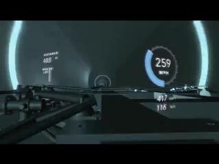 Вторые испытания системы вакуумных тоннелей Hyperloop One. Разгон капсулы до 310 кч
