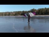 16 января 2017 г. Мои первые шаги с Kitewing на льду.