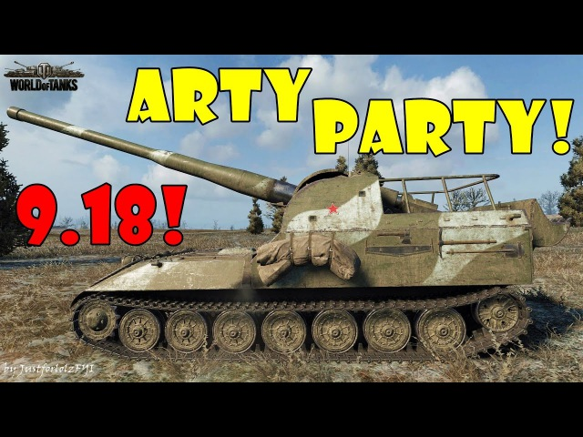 World of Tanks - Funny Moments   ARTY PARTY 9.18! (world of tank, приколы, моды, читы, wot)