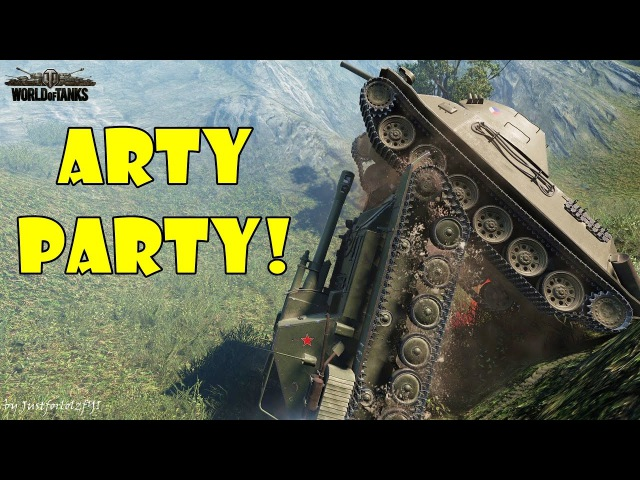World of Tanks - Funny Moments | ARTY PARTY! 24 (world of tank, приколы, моды, читы, wot)