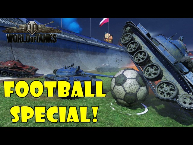 World of Tanks - Funny Moments | Football Special 2016 (world of tank, приколы, моды, читы, wot)