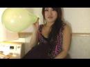 balloon challenge  Blow to pop    Cute Japanese girl      Balloon pop