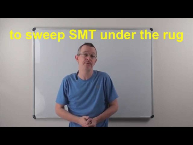 Learn English Daily Easy English Expression 0804 to sweep SMT under the rug
