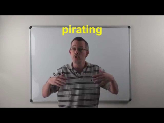American Idioms: Daily Easy English 0814: (conversation fixed!) pirating (RE-UPLOADED)