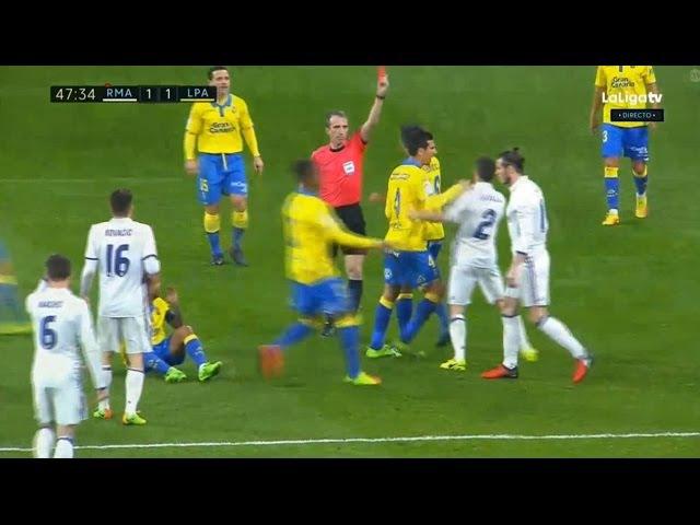 Gareth Bale Red Card - Real Madrid vs Las Palmas 3-3 - La Liga 01/03/2017 HD
