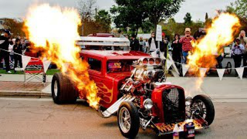 Пламя метательный Хот-род - Flame Throwing 1931 Chevy Coupe