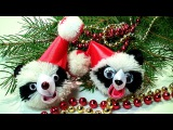 Новогодние Игрушки Своими Руками, Новогодняя Игрушка Панда на Елку / DIY Christmas Crafts ideas