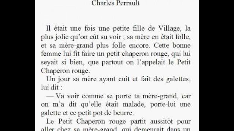 Красная Шапочка по французски Le petit chaperon rouge en français 01