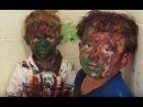 Дети поиграли с краской
