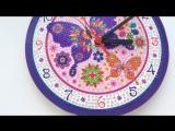 Часы в алмазной мозаике.Работа Екатерины Кундозеровой.