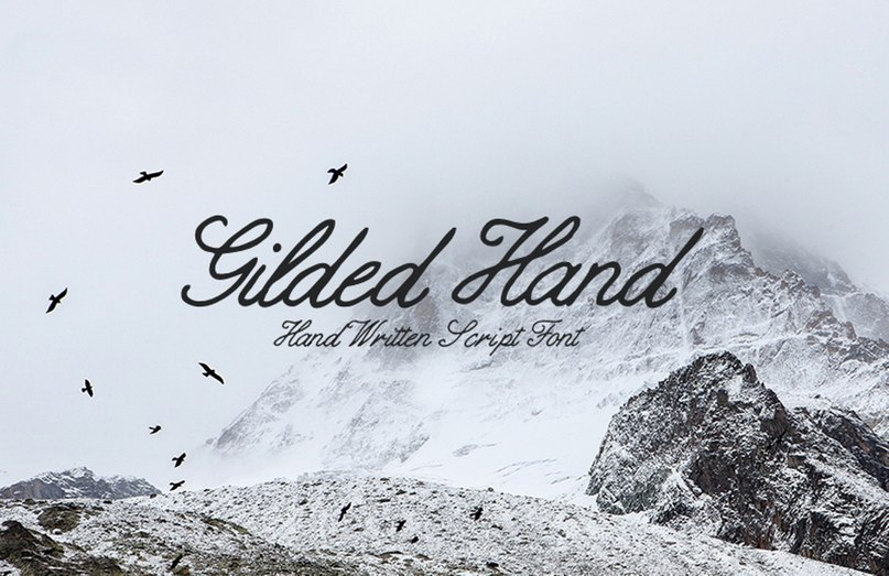 Download Gilded hand script font (typeface)