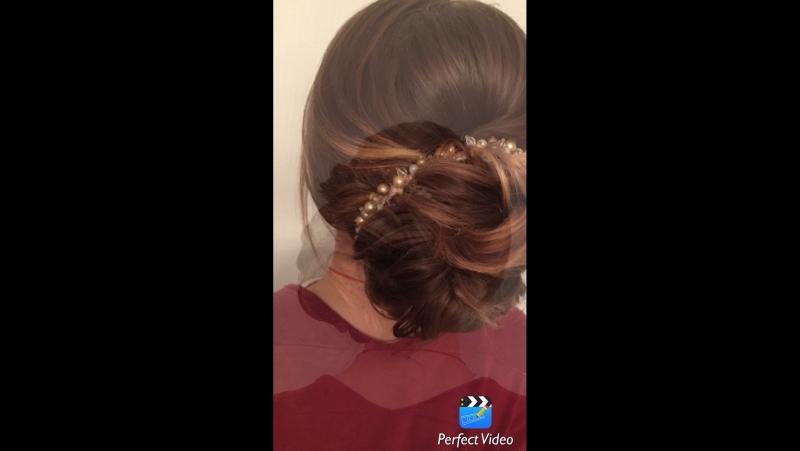 Прическа из прямых волос