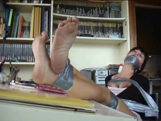 Brunette Taped and Toyed by Cat Buglar