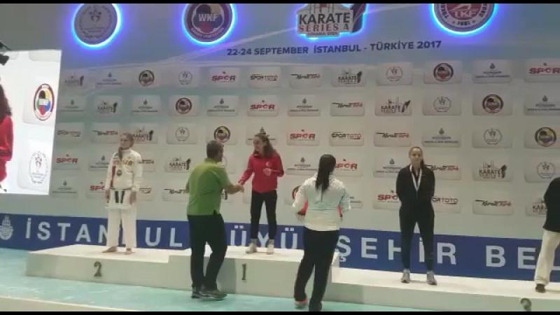 Награждение победителей 🥇🥈🥉🏆 Димова Валерия - серебряный призёр ISTANBUL OPEN🥋💪🏻👏🏻👏🏻👏🏻