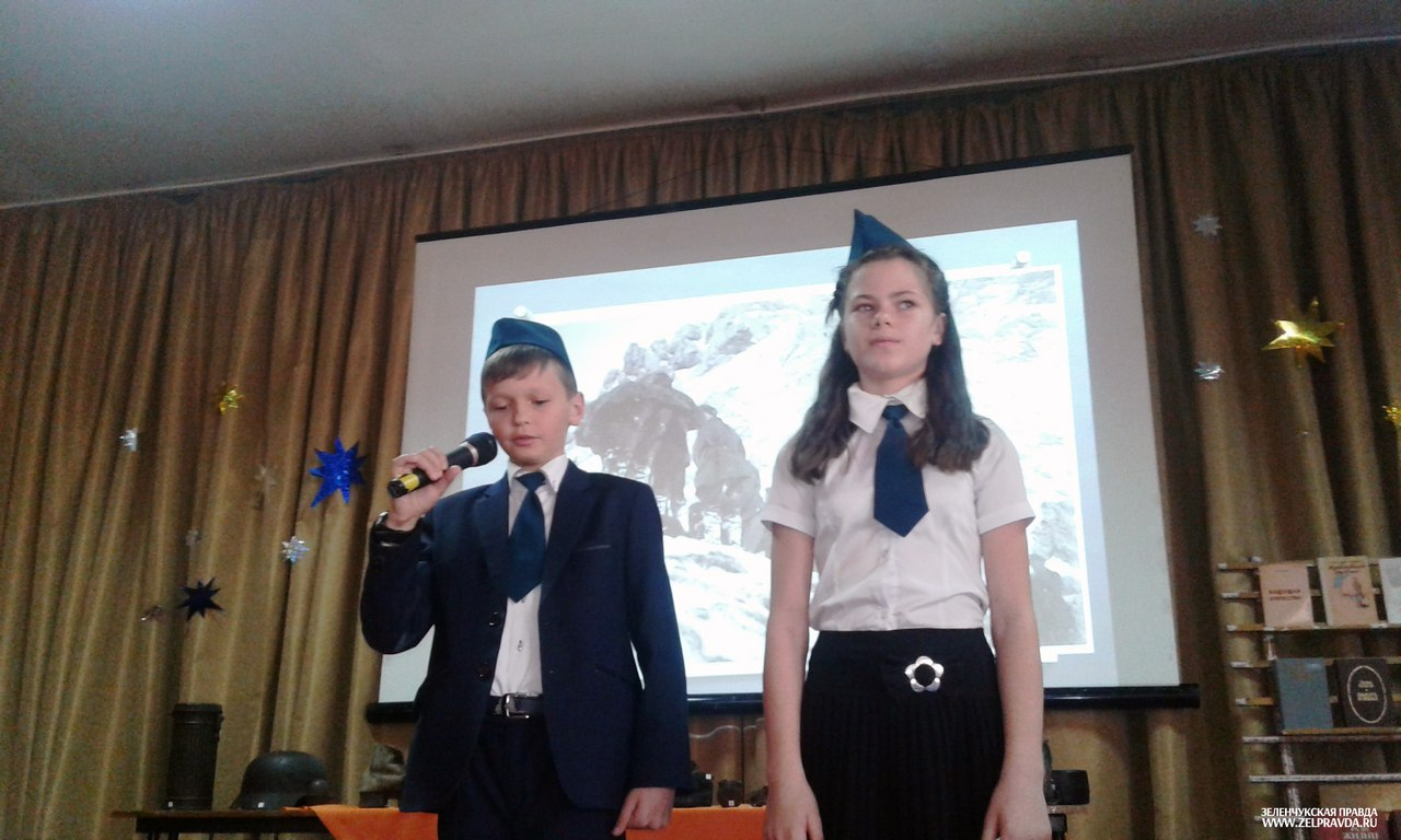 Школьникам Зеленчукской рассказали о  военной истории нашего Отечества