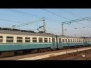 Электропоезд эр2р-7070 сообщением 6446 Красный Лиман-Харьков(Л) прибывает на станцию Изюм