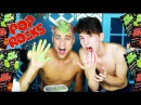 DYING MY HAIR GREEN PINK WITH *POP ROCKS* feat Chris Oflyng