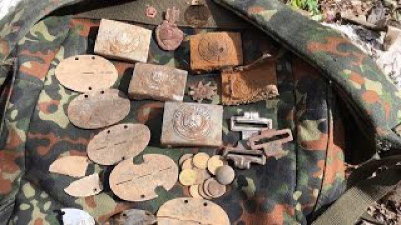 КОП по ВОЙНЕ в лагере немецких военнопленных. Редкие находки. Searching relics of WW2. Филь ...
