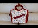 Bolsa de tecido Francine. Compre o projeto com moldes, medidas e passo a passo no Maria Adna Ateliê