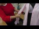 Рукав с защипами в рубашечном крое