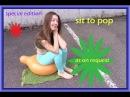 Looner girl sit 2 pop - sie bläst einen Ballon auf und setzt sich drauf - POW!