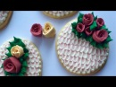 Easter Cookies With Brush Embroidery