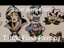 Sailor Jerry Flash! - Tattoo Flash Painting