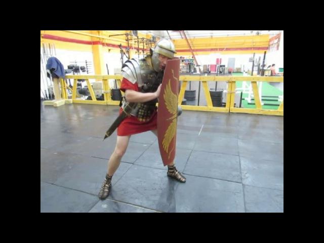 Римское фехтование легионеров - 1. Боевая стойка. Roman legionaries fencing - 1. Fighting position.