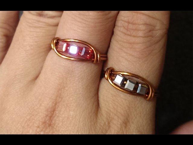 Simple leaf copper ring for beginners - Wire Wrapping Ideas 92