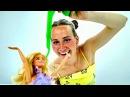 В Дом БАРБИ попал МЕТЕОРИТ! СЛИЗЬ повсюду 😈 Мультик для Девочек / Видео с Куклам...