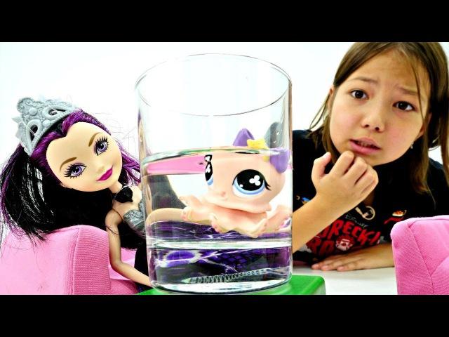 Куклы Эвер Афтер Хай разбирают вещи своих ПИТОМЦЕВ 🐙 Угадай! Игры для Девочек Ev...