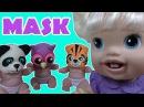 Куклы Пупсики Играют в Маски из Play Doh с Baby Alive Кушают Сладости Видео для детей BLT TV