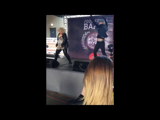 Алина Монро и Артем Скай на фестивале ЕШЬ ВКУСНО,FOOD TRUCK BAZAR.