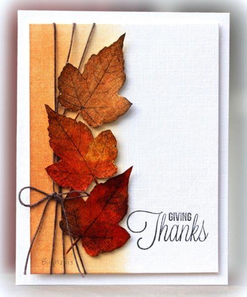 Открытки с листьями, открытка днем рождения