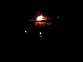 На повороте к Бруслановке горит машина