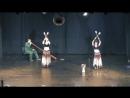 танец с факелами под живую музыку