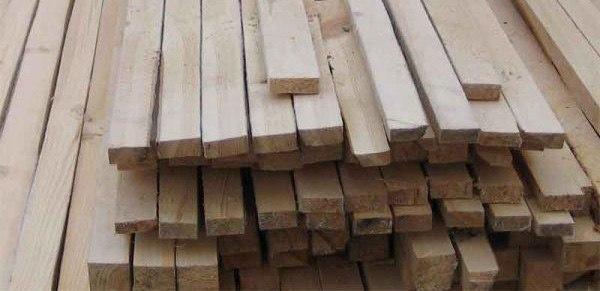 Рейка футеровочная деревянная