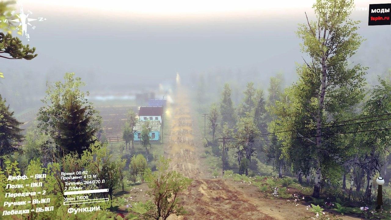 Карта «Лес 6» для Spintires - Скриншот 3