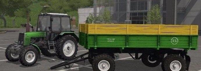Прицеп «ПТС 4» к трактору