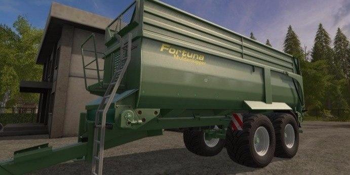 Прицеп «Fortuna FTM 200» к трактору