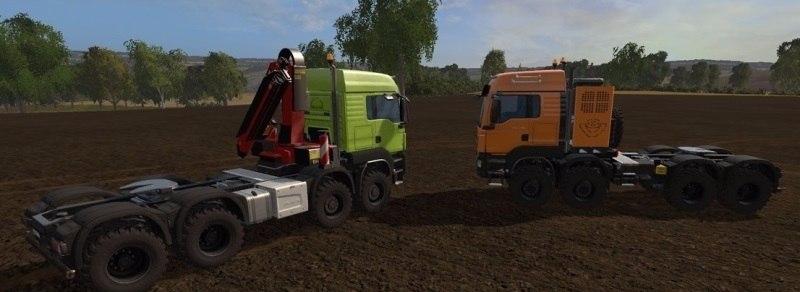 Два грузовика «MAN TGS 41.570 8×8»