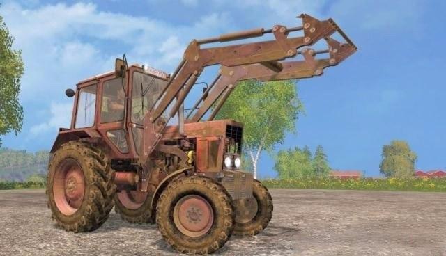 Трактор «МТЗ 82 КУН» с погрузчиком