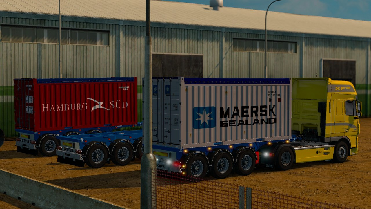 Трейлер Schmitz 20ft Open Top Container Update V1.3