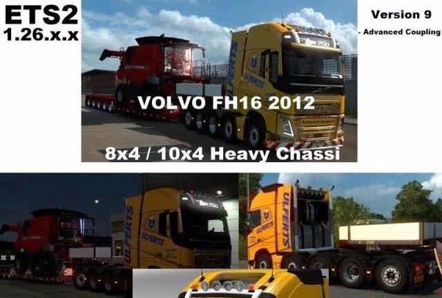 Грузовик Volvo FH 2012 8×4 и 10×4 v9.0
