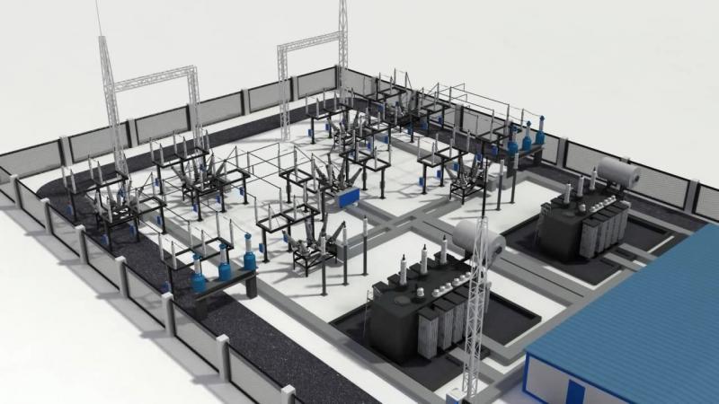 3D презентация электроячейки СЭЩ БМ ЗРУ 110кв