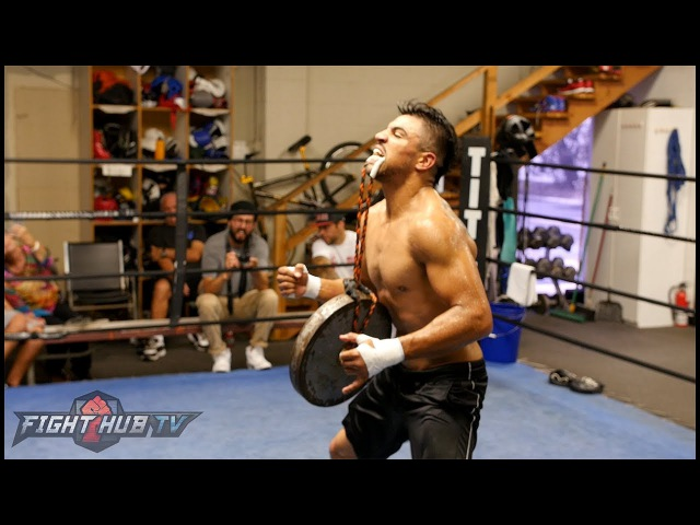 VICTOR ORTIZ TRAINING LIKE A BEAST FOR RETURN! SOLID NECK WORK WITH BIG WEIGHT