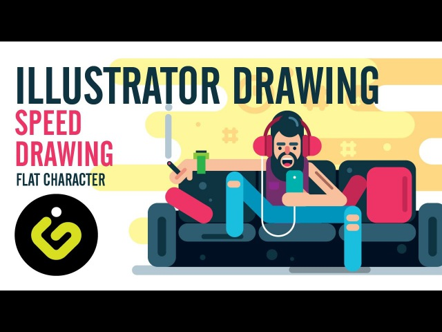 Adobe illustrator tutorial, Learn how to draw a flat character