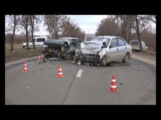 Ужасное лобовое ДТП на трассе Вдребезги разбились ВАЗ и Daewoo