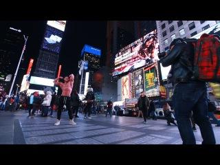Тренировка в Нью - Йорке. Качок на Тайм Сквер. Офис Casey Neistat.